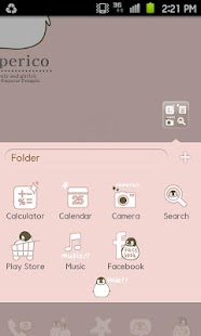 Peperico GO Launcher theme EX - screenshot thumbnail