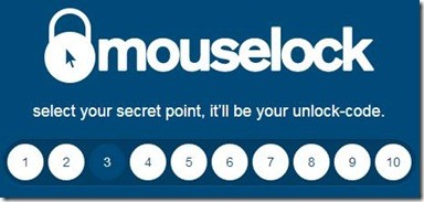 MouseLock cliccare il numero da usare come password
