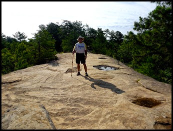 13 - Bill on top and in the middle of Natural Bridge
