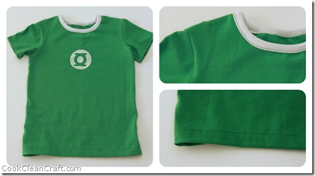 Green Lantern Tshirt Collage