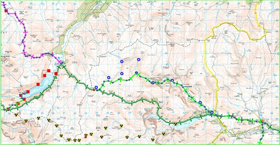 TGO CHALLENGE 2011- DAY 12 MAP