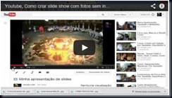 Slideshow com o Youtube