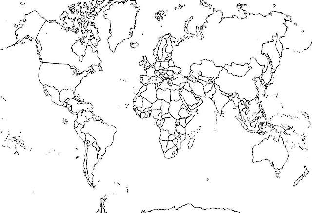 Mapa Del Mundo Para Dibujar: MAPAS DEL MUNDO PARA PINTAR