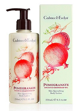 Crabtree & Evelyn Pomgranate, Argan & Grapeseed Body Care  Skin Quenching Body Lotion (250ml, $35)