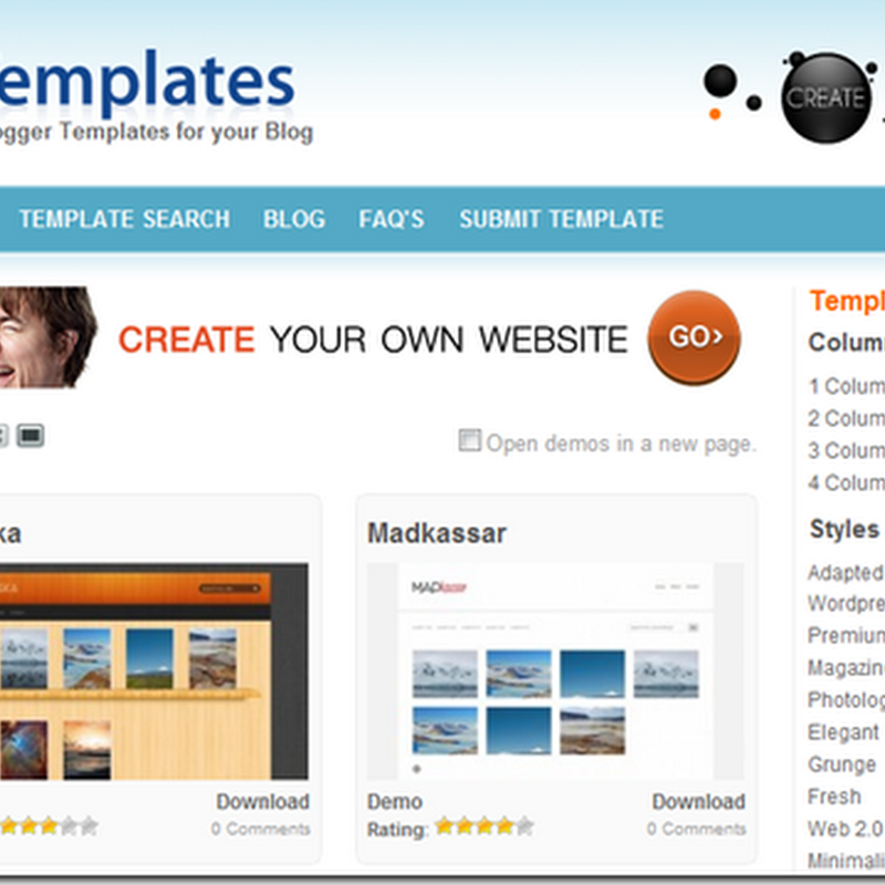 Some Best Blogger Templates Sites