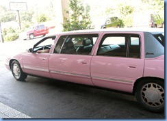 8093 pink limo from Marlowe's Ribs & Restaraunt (our free ride) - Memphis, Tennessee