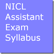 NICL Assistant exam syllabus