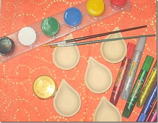 Ideas to paint diwali lamps diyas