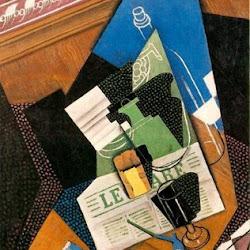 Juan Gris (1915): Botella de agua y frutero. Colección privada. New York. USA. Cubismo