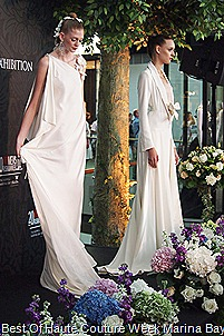 Alexis  Mabille Parisan Haute Couturier White Gowns
