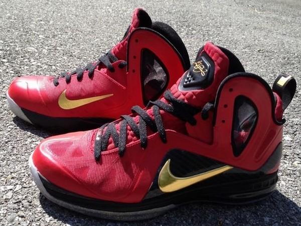 abc4e829ae Nike LeBron 9 Elite 8220NBA Finals8221 Custom Colorway By Mache ...