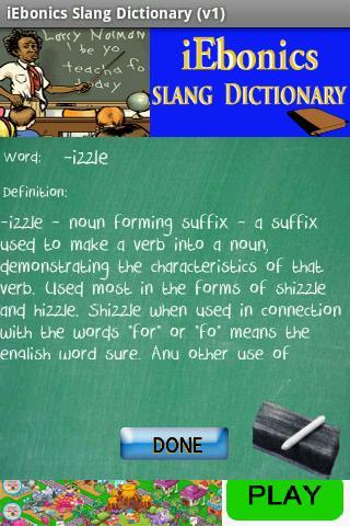 iEbonics & Slang Dictionary- screenshot