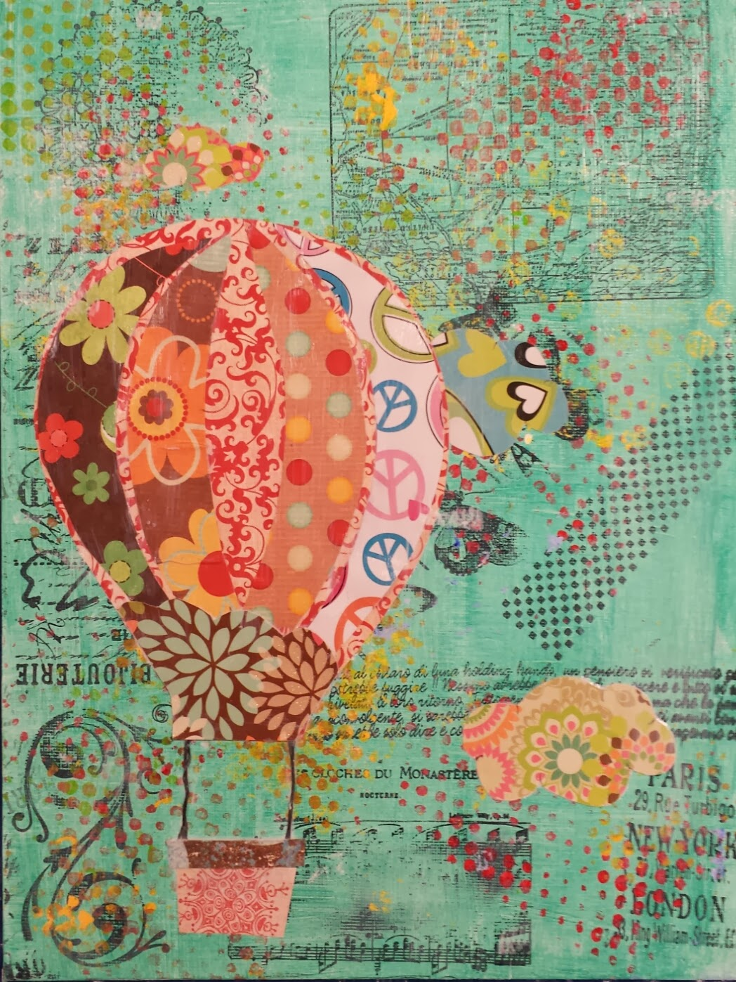 Angela Anderson Art Blog: Hot Air Balloon Mixed Media ...