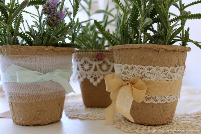 Embellished Peat Pot Table Favors - homework (5)