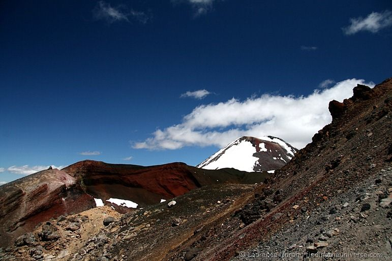 Red crater with Ngauruhoe in background