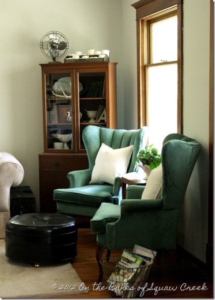 turquoise vintage living room