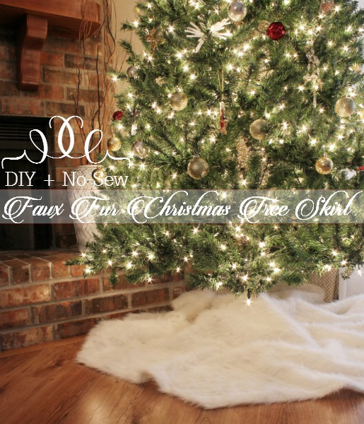 diy fur tree skirt