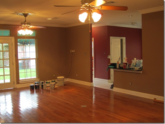 In The Kitchen Laundry Room Breakfast Area And Back Hallway We Chose A Martha Glidden Color Called Sealing Wax Which Is Rusty Red