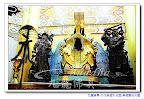 【淡水無極天元宮-真元天壇】第三層樓~圖中由右到左分別是~無極王天君-無極金光玉皇大天尊-無極托塔天王