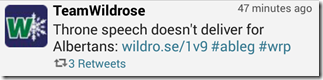 Wildrose Tweet