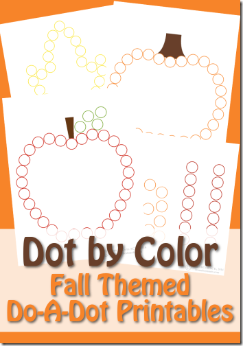 Free Fall Dot Marker Worksheets for Kids #preschool #fall