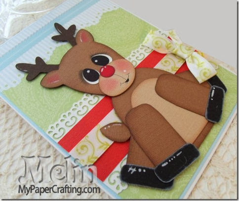 reindeer card side view