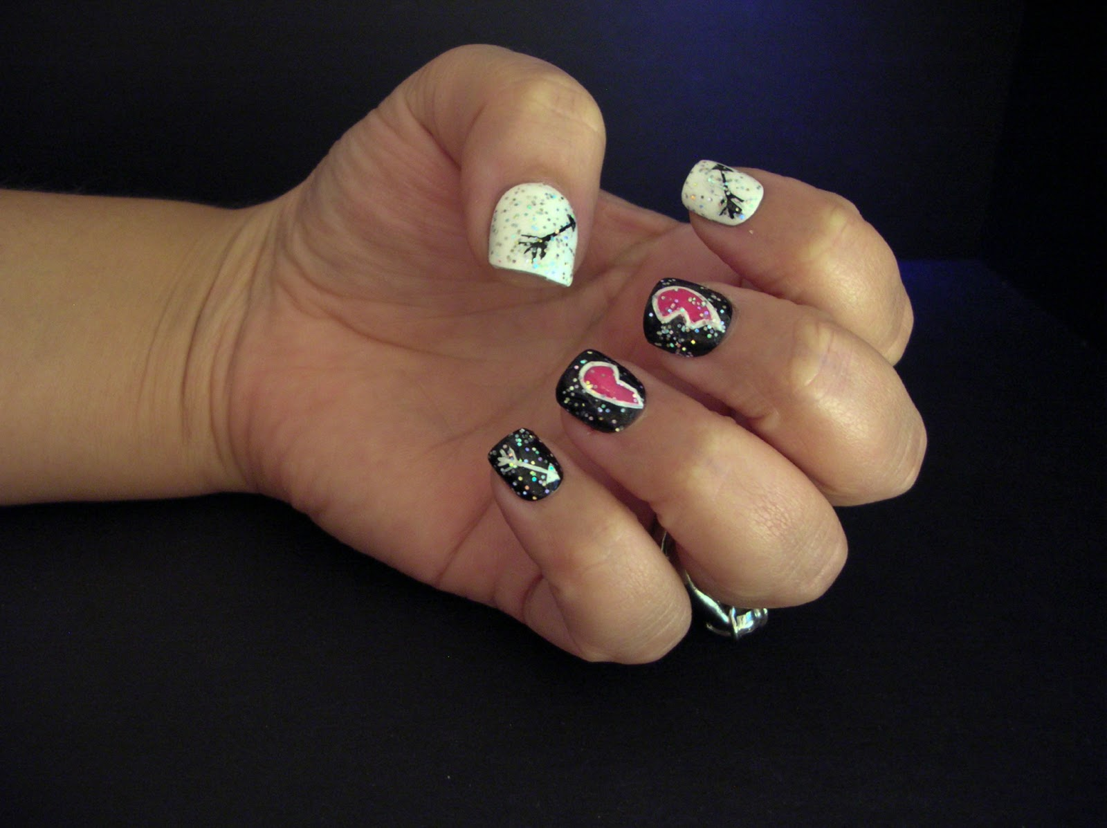 Cupid valentines day nails cupid valentines day nails 370 best ecklipsed by color valentines day nail art challenge cupids curse cupid nail art prinsesfo Images