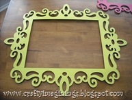 Green scroll frame from Michael's