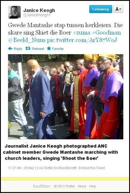827e4fa0c30 ANC HATESPEECH MAY29 2012 CHURCH LEADERS SING SHOOT THE BOER pic Janice  Keogh
