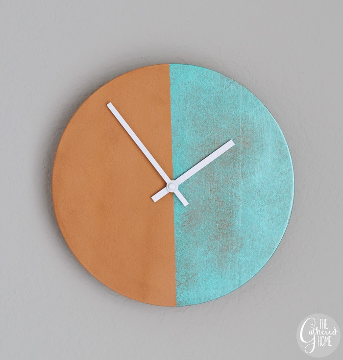 DIY Two-Tone Copper Clock3 g