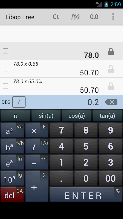 Libop Calculator Free- screenshot