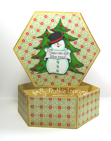 Oakpond Creations - Say what snowman - Ruthie Lopez - Gift Box 2
