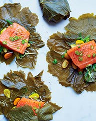 Grape Leaf Wrapped Salmon