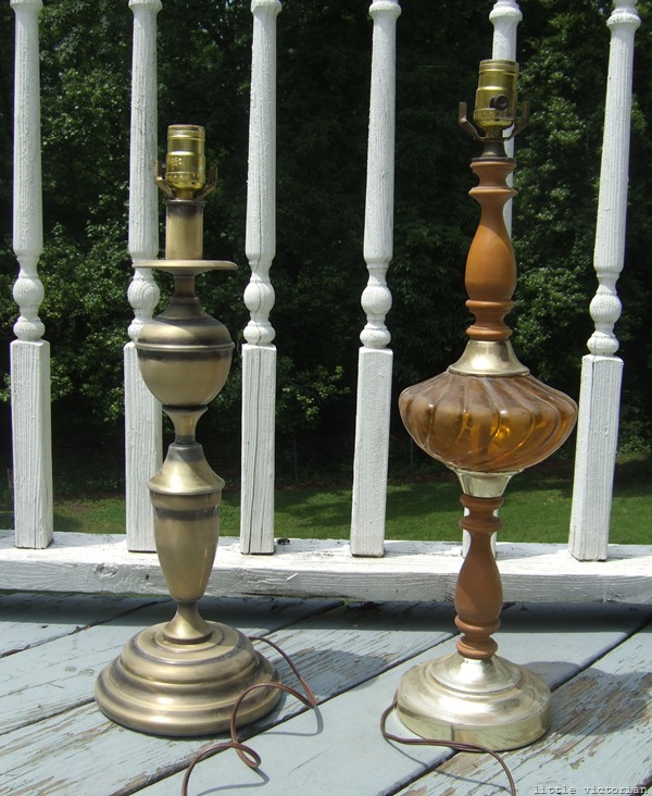How to refinish dated lamps (Little Victorian)