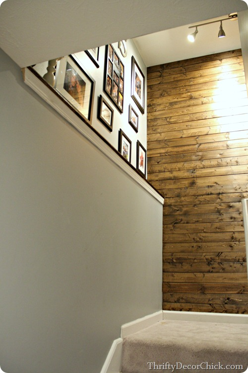 gallery wall wood planked wall