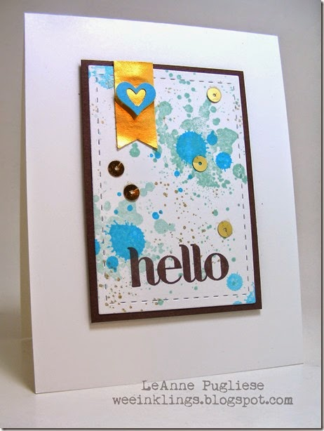 LeAnne Pugliese WeeInklings ColourQ241 Hello Gorgeous Grunge Stampin Up