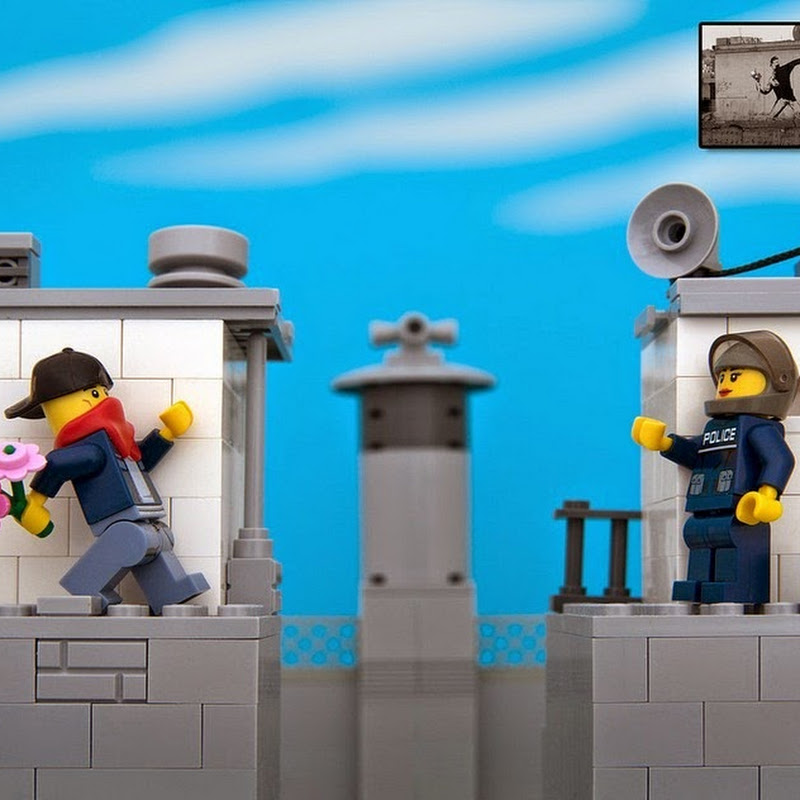 Banksy's Street Art Recreated in LEGO
