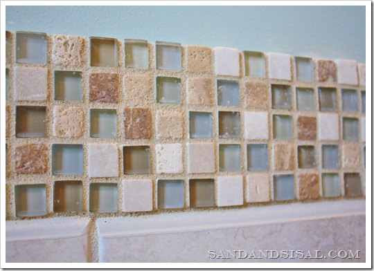 stone and glass mosaic tile