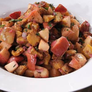 Emeril Lagasse's Braised Apples, Roasted Acorn Squash and Fresh Thyme.