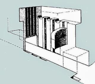 схема согласующего устройства предкамеры пирамиды хеопса с   заслонкой