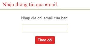 Hộp theo dõi qua email Feed