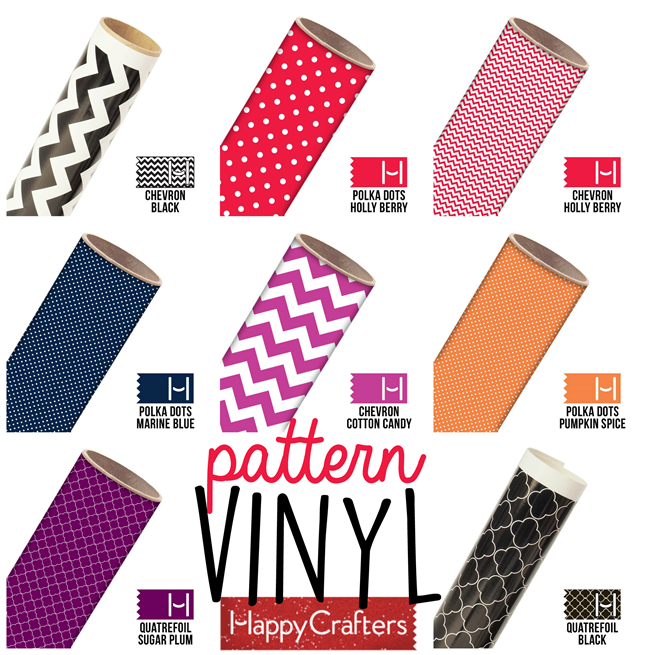 Pattern Vinyl from HappyCrafters.com