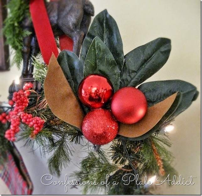 CONFESSIONS OF A PLATE ADDICT Tartan and Magnolia Christmas Mantel