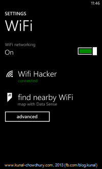 Find nearby WiFi in Amber update