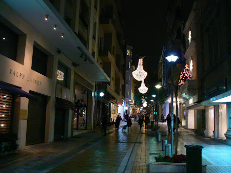 Imagini Grecia: Strada Bucuresti din Atena