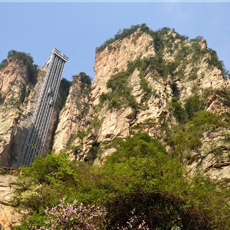 Bailong Elevator: An Elevator Built Into the Side of a Mountain