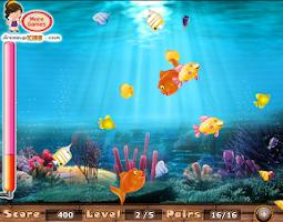 Screenshot of Match the fish pairs