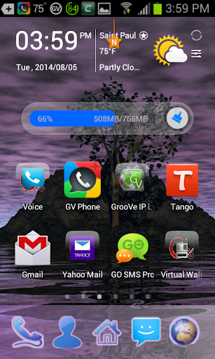 GTree Night Go Launcher Theme