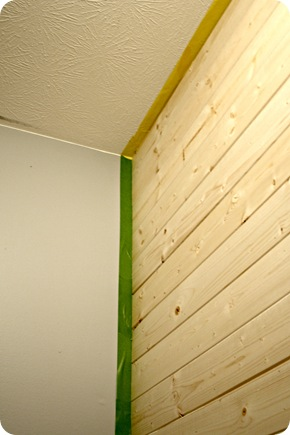 DIY wood planked wall from Thrifty Decor Chick