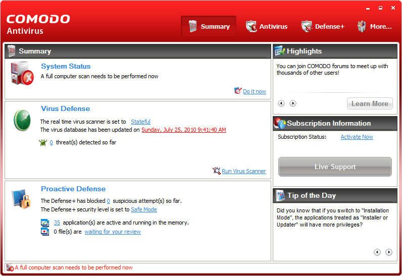 Top 10 Free Anti-Virus Windows 7 Download - License Softwares Download